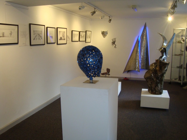 Some of the work at the Northern Light Exhibition. The Moors National Park Centre, Danby,