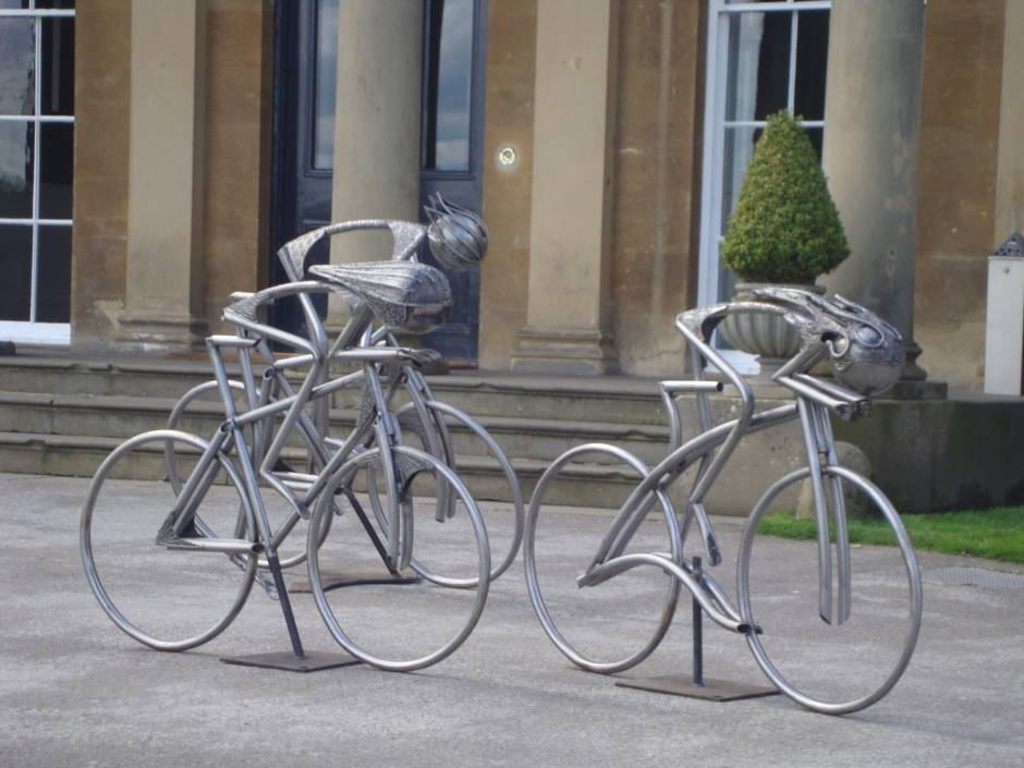 Sculptures visit Rudding Park 2014 when Yorkshire turned yellow, some great feed back thanks to all.